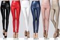 fashion High Quality PU Leather Pants Women Winter female high waist elastic pu leather fleece stretch Slim women pencil pants