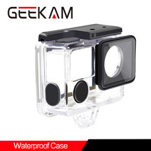 Action Camera Accessories Underwater Waterproof Housing Case For GEEKAM K3R/K3 T1 For EKEN H5s H6s H7s H9Rplus(China)