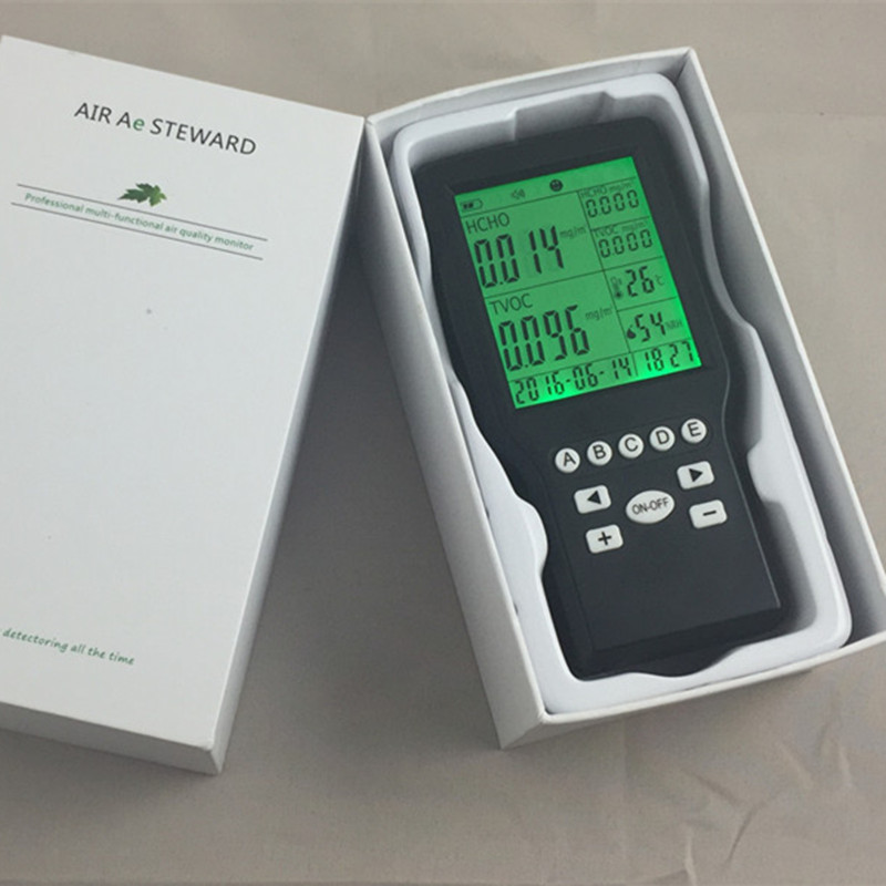 Free shipping Indoor TVOC Air Quality Tester Detector Formaldehyde HCHO/TVOC gas high quality from OHMEKA