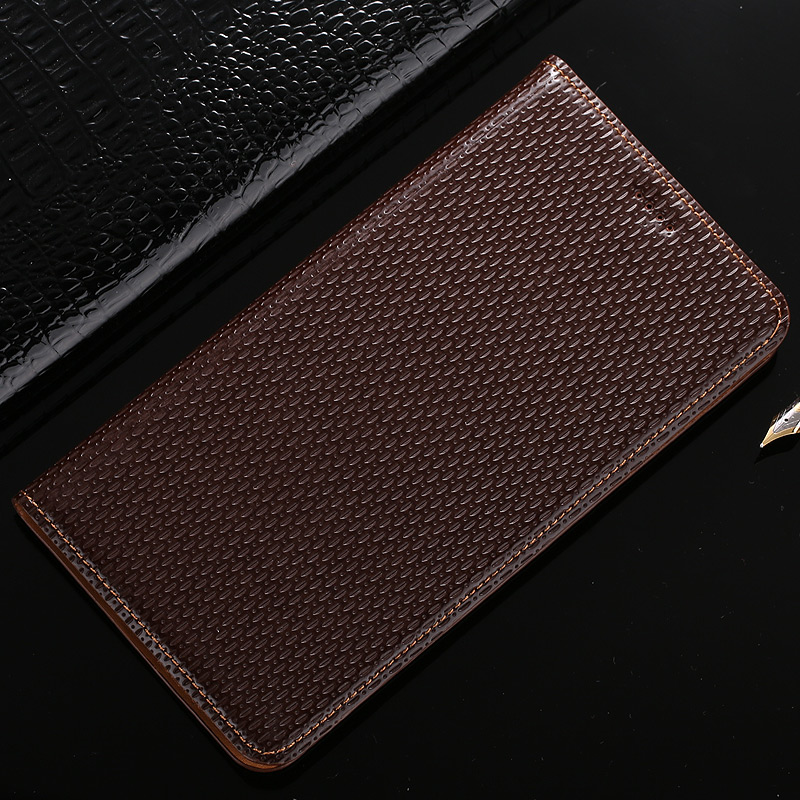 Top Quality Genuine Leather Cover For Microsoft Nokia Lumia 950 650 640 XL Classic Cowboy Texture