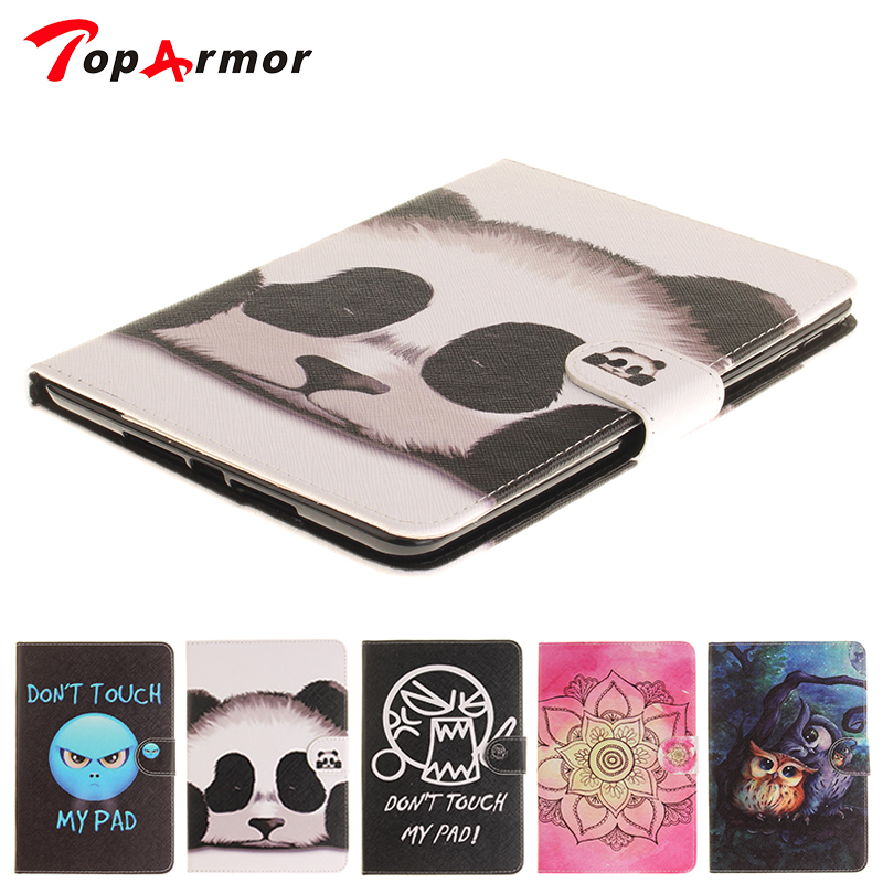 TopArmor mini4 7.9 Case Fashion Flower Dont touch my pad Style PU Leather Flip Tablet Back Cover For Apple iPad mini 4