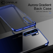 Cafele Luxury Plating Case For Huawei P30 Pro Aurora Gradient Back Soft TPU Phone Cover Protector Ultra Thin
