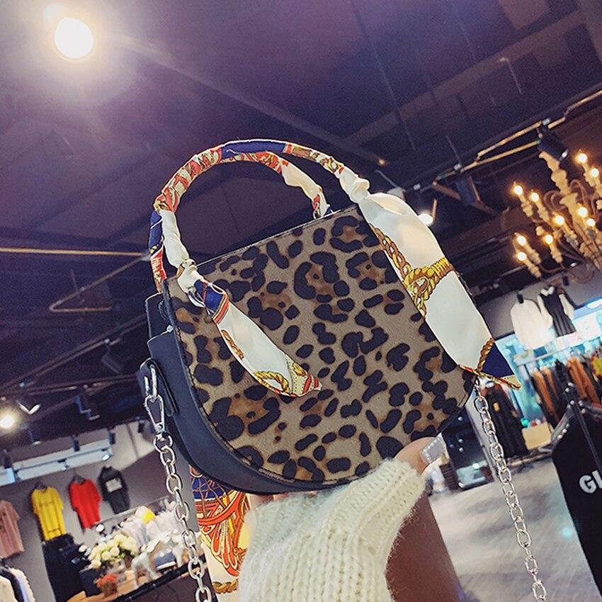Vintage In Di Casual Toyoosky Delle Sciarpa Shopping Leopardo A Borsa Donna Nuova Spalla Bag Donne Tote 2018 Khaki Nabuk Borse brown Pelle Inverno q004TAx