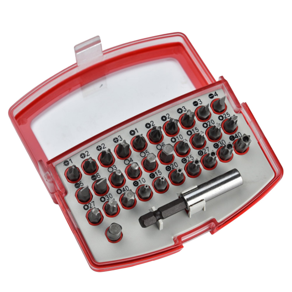 32pcs/set Hex Star Spanner Tri Wing Electric Screwdriver Bit Set Magnetic Extension Bit Holder Security Tamper Proof Bit Modern Techniques Power Tools