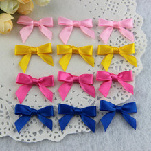 1000pcs/lot Mix Colors Gift Box Decoration Handmade Satin Ribbon Rosette Bow Free Shipping