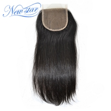 New Star Straight Lace Closures With Baby Hair Knots Bleached 100% Virgin Human Hair Medium Brown Swiss Lace Free Shipping