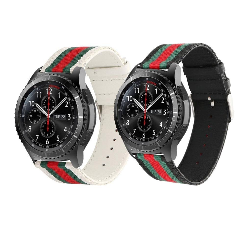 22mm Nylon + bracelet En Cuir pour Samsung Vitesse S3 frontière/classique Bande bracelet ceinture smart watch bracelet pour xiaomi huami amazfit
