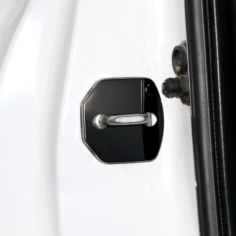 Image 3 - 4pcs/lot Car Styling Stainless Steel Door Lock Striker Cover Door Striker Cover for ST racing Ford Focus 2 3 FIESTA Kuga-in Car Stickers from Automobiles & Motorcycles