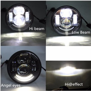 """Image 5 - 2 Pcs Motorcycle 4.65 Inch moto Round Headlamps For Harley Dyna FXDF Model Driving Lamps 5"""" Fat Bob Projector LED Headlights"""