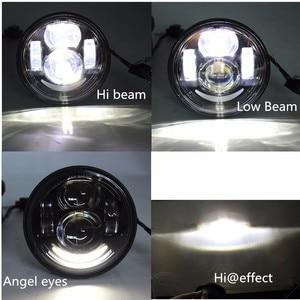 """Image 5 - 2 pièces Moto rcycle 4.65 pouces moto phares ronds pour Harley Dyna FXDF modèle conduite lampes 5 """"gros Bob projecteur LED phares"""