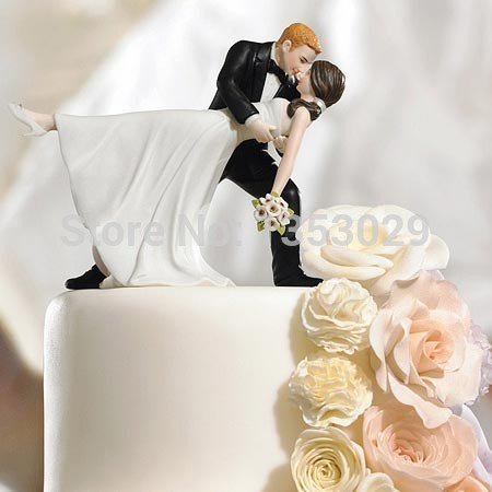 Free Shipping Wedding Cake Top Decoration Bride Groom Resin Topper Accessories Centerpieces