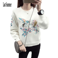 New Fashion 2016 Autumn Winter For Womens Cashmere Sweaters Thick Loose Warm Knitted Sweet Pullovers Sweaters