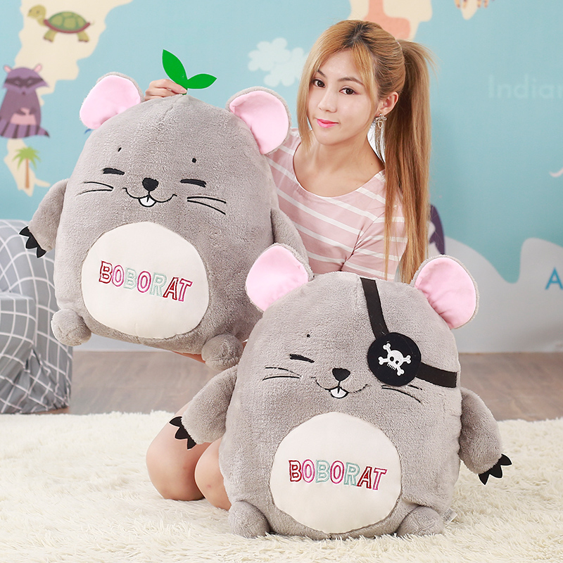 40cm Cute Bobo Rat Plush Toy Staffed Cartoon Animal Mouse Pillow Doll Kawaii HamsteR Kids Toy Creative Lovely Birthday Gift