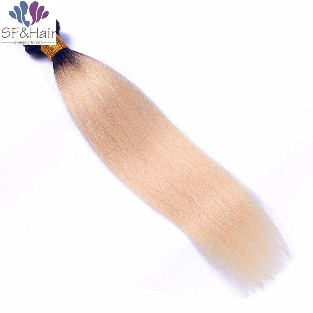 #1B 613 Platinum Blonde Brazilian Hair Bundles Grade 8A Mink Brazilian Virgin Hair Straight Remy Ombre Human Hair Bundles