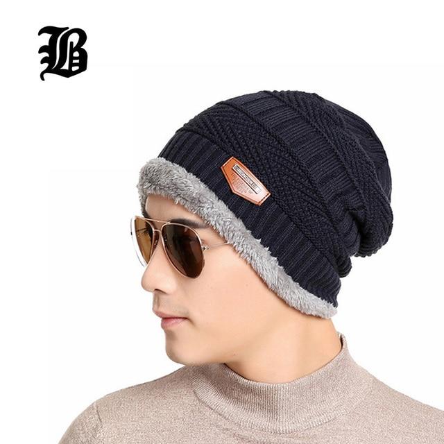 eeb6a59483fd5 [FLB] 2016 Brand Beanies Knit Winter Hats For Men Women Beanie Men's Winter  Hat Caps Skullies Bonnet Fitted Warm Cap