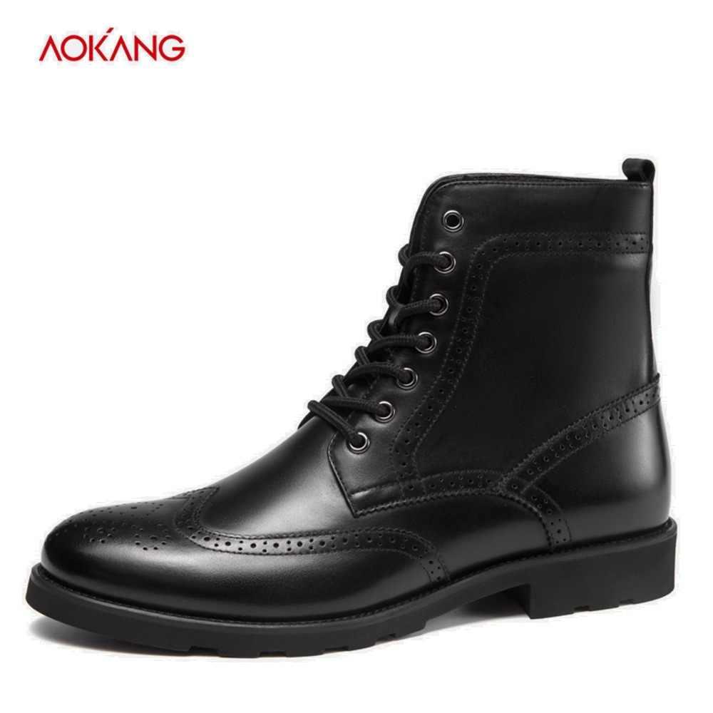 waterproof leather dress boots