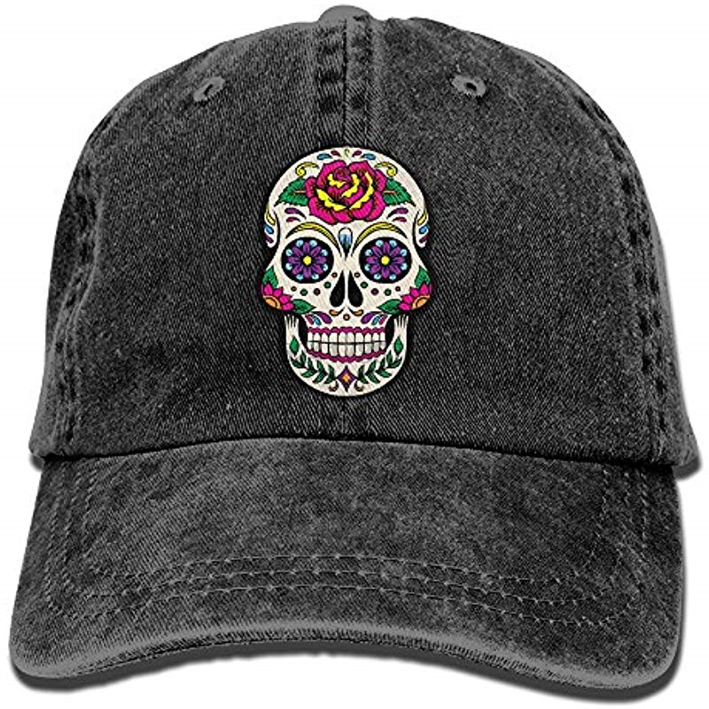 be0f6ea02 US $9.9 |Giant Sugar Skulls Vintage Jeans Baseball Cap Trucker Hat For Men  And Women-in Men's Baseball Caps from Apparel Accessories on Aliexpress.com  ...