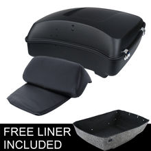 Motorcycle Motorbike Chopped Tour Pak Trunk Backrest Pad For Harley Touring Models Road King Street Electra Glide FLHR FLH FLHX