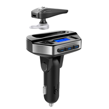 Wireless FM Transmitter Bluetooth Headset Mp3 Player Modifier Radio Car Speaker Dual USB 3.1A Hands-free Call Music Play цена 2017