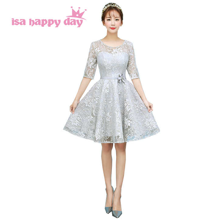 14bf502ec312073 Vestidos красивый день рождения серый рукавами вечерние Новые Короткие  Выпускные платья 2019 сексуальная одежда шорты модное