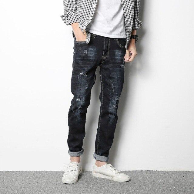 c17e02a23 2017 Nuevo ripped Jeans de marca para hombre pantalones vaqueros masculinos  de moda casual para hombre