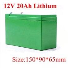 18650 12V 20Ah 11,1 V литиевая батарея для солнечной домашней системы электронные игрушки светодиодный фонарь электроинструменты Аварийное резервное копирование+ 2A зарядное устройство