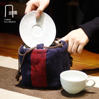 Travel Tea Sets Package Drawstring Bags Chinese Style Teapot Bag 1 Pot 1 Cups Pocket Sack