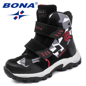 Image 3 - BONA New Popular Style Children Boots Hook & Loop Boys Winter Shoes Round Toe Girls Ankle Boots Comfortable Fast Free Shipping