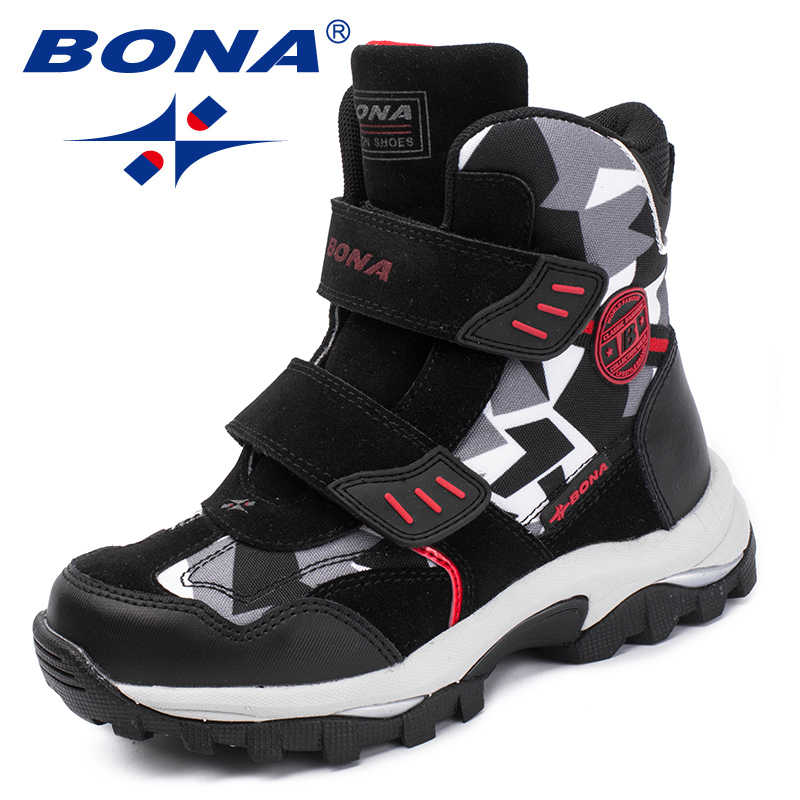BONA/новый популярный стиль; детские ботинки на липучке; зимняя обувь для мальчиков; ботильоны с круглым носком для девочек; удобная быстрая доставка