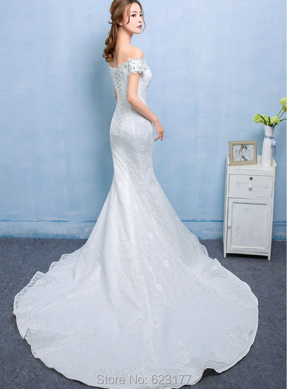 iGown Brand Dress Sabrina Gown with Short Sleeve Mermaid Wedding ...