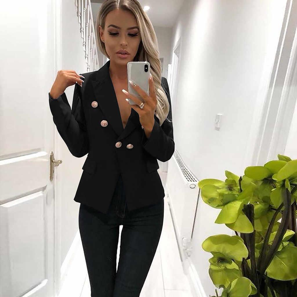 JAYCOSIN カジュアルブレザー女性女性 2019 春秋の女性ジャケットブレザーファムダブルブレストオフィスの女性のブレザー