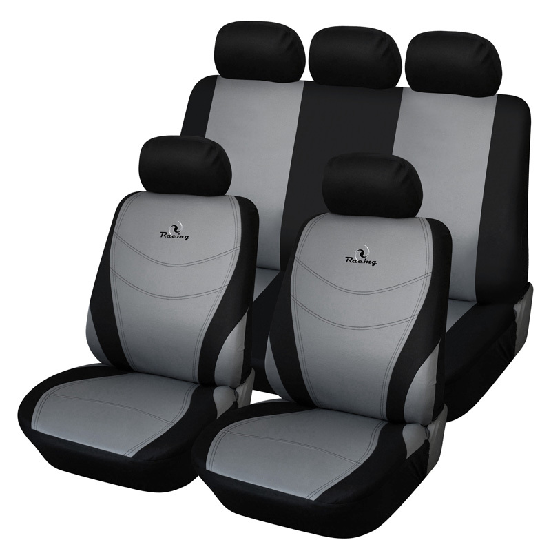 us $29 75 38% off autoyouth car seat covers full set universal fit auto car accessories seat protectors racing embroidery car styling gray in