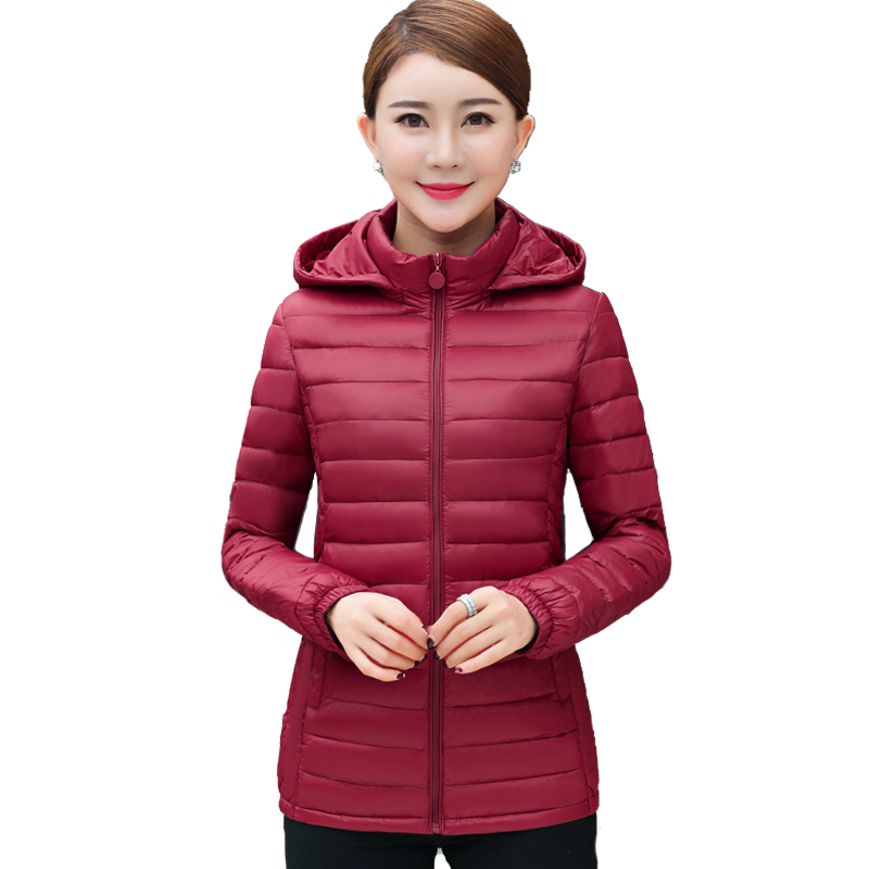 Plus size 4XL 5XL 6XL hooded women winter jacket outerwear cotton padded casacos de inverno feminino ladies coat slim   parka   2019