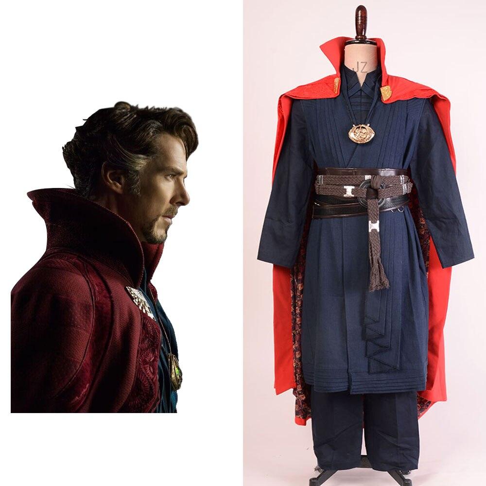 COS Movie Doctor Strange Dr Strange Steve Cosplay Costume Superhero Halloween Coat Full Set for Men and Women Halloween