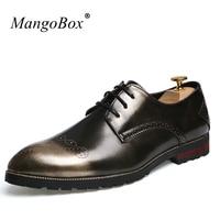 Mangoboxデザイナーメンズスニーカーハンサム男の子ドレス履物スーパークール正式な靴·マンブラックゴールドファッション靴カジュアル男