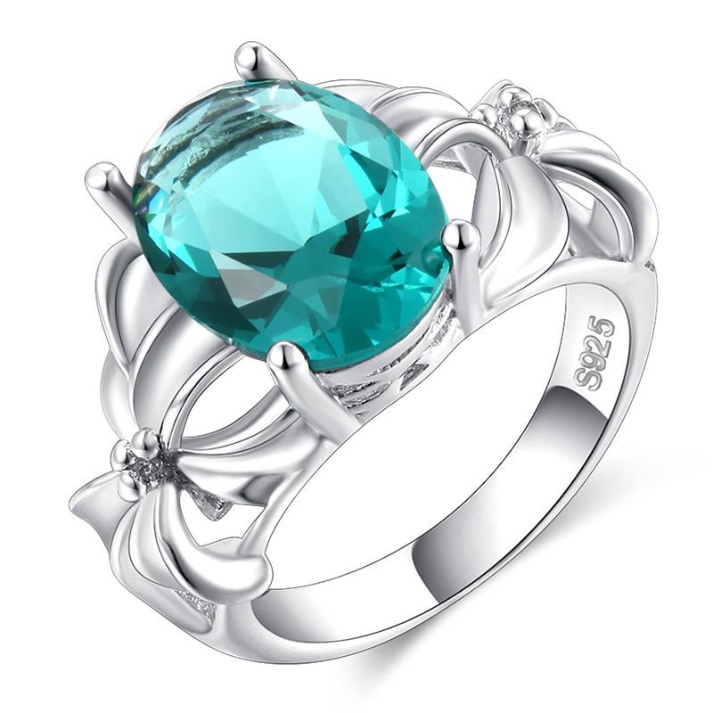 2019 New Fashion Women Rings Dark Green Crystal Zircon Wedding Rings Elegant Ladies Jewelry Gifts Aneis Emerald Ring