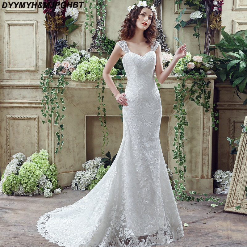 Glamours Lace Wedding Dresses 2018 Sweetheart Tank Top
