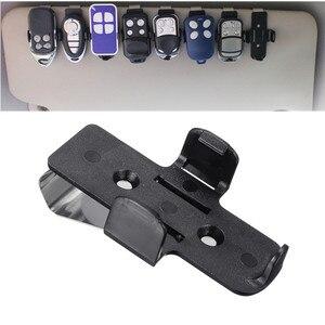 Image 1 - Araba anahtarı garaj kapısı anahtar uzaktan kelepçe braketi araba güneşlik klip tutucu oto Fastener klip evrensel braketi araba aksesuarları