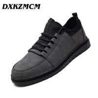 DXKZMCM Male Shoes 2018 Breathable Flats Retro Men Casual Shoes Men Sneakers