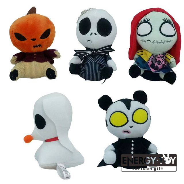 5 5styles cartoon the nightmare before christmas jack sally zero santa tim burton pumpkin stuffed