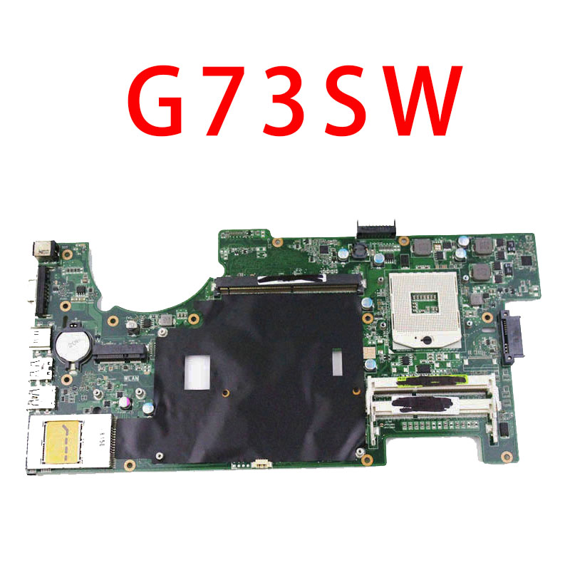 все цены на  For ASUS G73 G73SW with cpu DDR3 2D connector Good condition laptop motherboard tested good Warranty 45days  онлайн