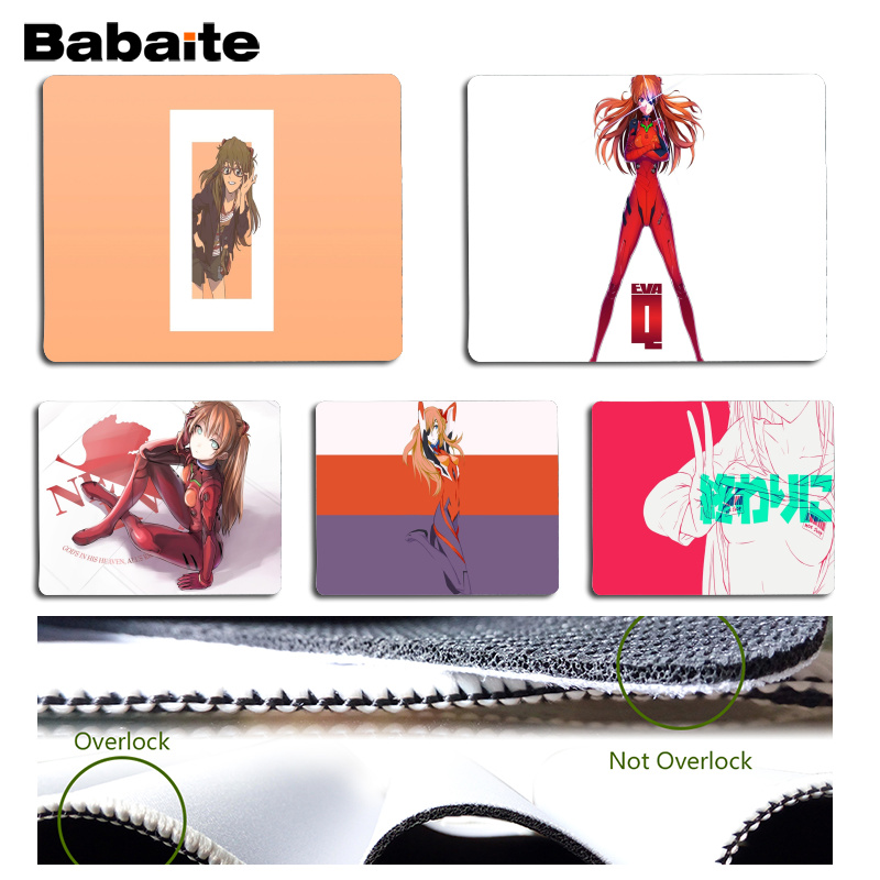 Babaite Vintage Cool Evangelion Asuka Computer Gaming Mousemats Size for 18x22cm 25x29cm Rubber Mousemats