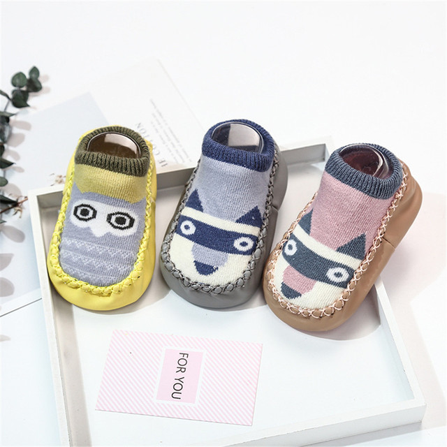 2019 Baby Foot Socks With Rubber Infant Sock For Newborn Baby Boys Girl Children Floor Socks Shoes Anti-Slip Soft Soles Sokken 2