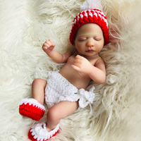 Unique boutique 25 cm Silicone Reborn Baby Dolls mini Realistic Bebe Reborn menina Kid Boneca 10 inch bath Toys For Gril Gift
