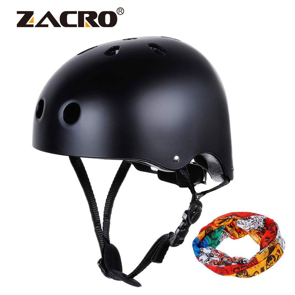 Bicycle Helmet Mountain-Road-Bike Free-Headband Adjustable Integrally Black with 56-58cm