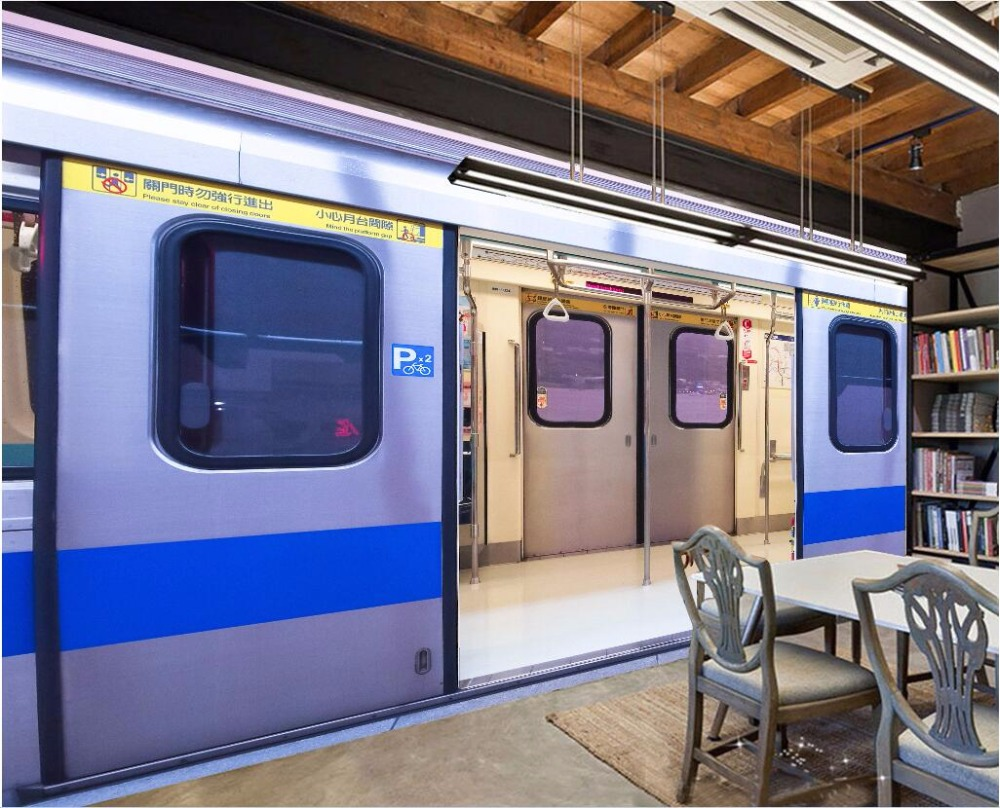 3d Wall Murals Wallpaper For Living Room Walls 3 D Photo Wallpaper The  Subway Train Cars Decor Picture Custom Mural Painting In Wallpapers From  Home ...