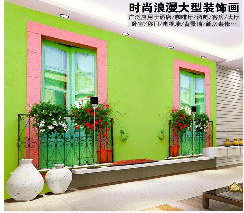 online get cheap green wall mural living room aliexpress com green living room window outside tv wall mural 3d wallpaper customized wallpaper for walls mural painting