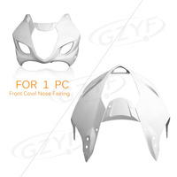 Unpainted Upper Front Fairing Cowl Nose for Suzuki 2003 2004 GSXR1000 GSXR 1000 K3, ABS Plastic