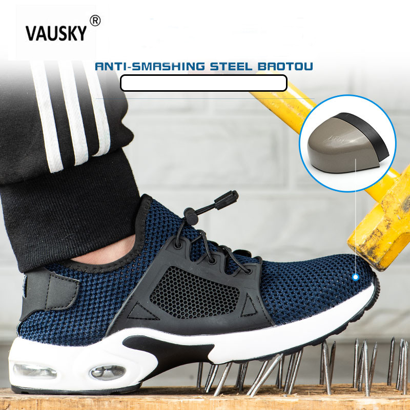 Kiode Men Indestructible Shoes,Ryder Steel Toe Boot Safety Military Work Sneakers