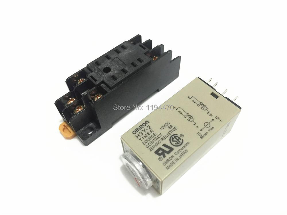 US $32.89 6% OFF|10 sets/Lot H3Y 2 AC 220V 10S Power On Delay Timer on